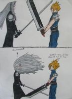 Sephiroth vs. Wind by Moonblaster13