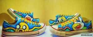 Adventure time shoes by kaheltoes