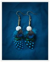 Nautilus - Feather Earrings by doodle-moose