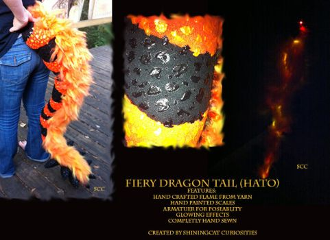 Fiery Dragon (Hato) Tail by Commander-ShiningCat