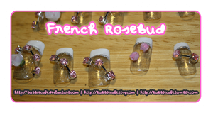 French Rosebud Nails by BubbleCafe
