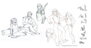 Nathaniel Howe Sketches by chronicdoodler