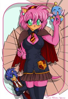 Sonic  Amy HP Style by RosaKiddy