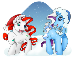 AT - Candy Cane and Snowflake by PrettyWitchDoremi