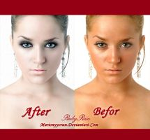 Befor and After retouch 1 by RubyRosy
