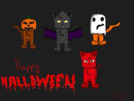Cat Halloween by IronMeow