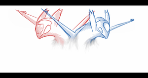 "Latias and Latios ""Eon Duo"" by ProfessorScam"