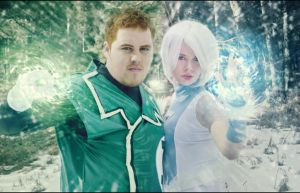 Guy Gardner and Ice by JonathanDuran