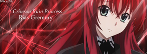 High School DxD - Rias Gremory Profile Cover Photo by shadowmilez