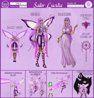 Sailor Lucidia Reference Sheet by ChelseaDanger