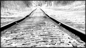 rail road tracks by P-MPhotography