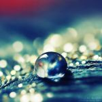 Blue glitter drop. .. by light-from-Emirates