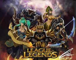league of legends Wallpaper by Zumio