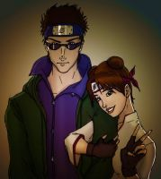 Shino+TenTen Coloured by Rel-Rogue