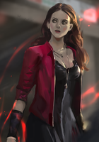 Scarlet Witch fan art by windboi