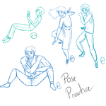 Poses practice by WiltingDaisy
