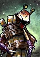 Jar Jar Binks sketch card by geralddedios