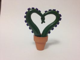 Heart Shaped Potted Tentacles by KittyCanuck