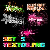 Set de Textos en png by PushDesings