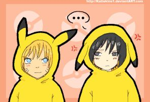 Sasuke and Naruto in Pikachu Costumes by KteaCrumpet
