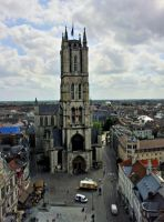 Ghent Saint Baaf Cathedral and St Baaf Square by BlokkStox