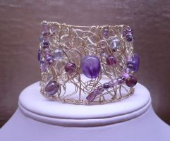 Passion Purple Cuff Bracelet by shadowling