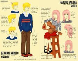 NaruSaku - the Singer and the Manager by payung-merah