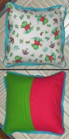 Cheer. PuddleSplashers Pillow by UrsulaPatch