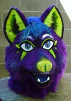 improved purple wolf by LilleahWest