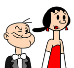 Popeye and Olive Oyl going to Academy Awards 2017 by MarcosPower1996