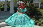 Ariel the little mermaid in Christmas dress by fan by Fantasyaffaire