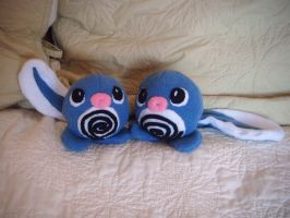 poliwag plushie siblings by Plush-Lore