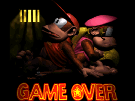 Donkey Kong Country 2 game over screenshot by cellamare