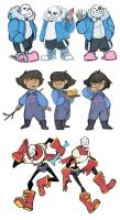 Undertale- Poses doodles by MadJesters1