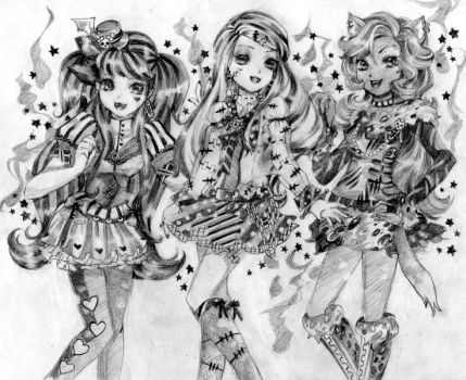 Monster High Ghouls by ButterflyWingies