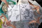 Monsters Fight in Gurch's sketch pad by TheGurch