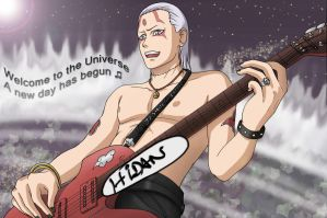 Hidan is a great guitar player by KaenDD