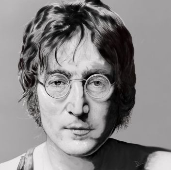 John Lennon of the Beatles by joajacksonmartin