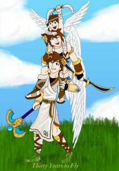 Thirty Years of Kid Icarus by brawlingwolf