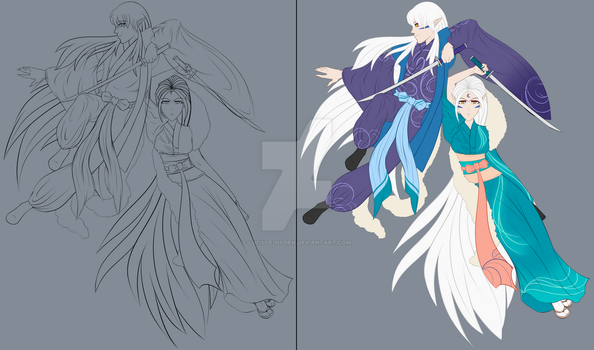 Twins WIP by Lucille-Haden