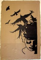 Stencil - The Crows by color-me-red