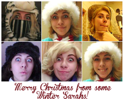Have some Winter-themed Sarah selfies! by Creativegreenbeans