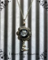 HANDMADE - Moon Cat Necklace by IWantCandyCreation