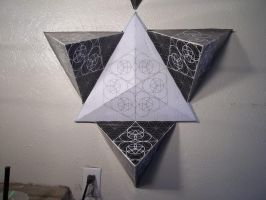 Flower of Life Pyramid Structure Small by JadeLoveFireKnight