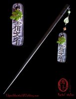 Chinese Coin hair stick by Oniko-art