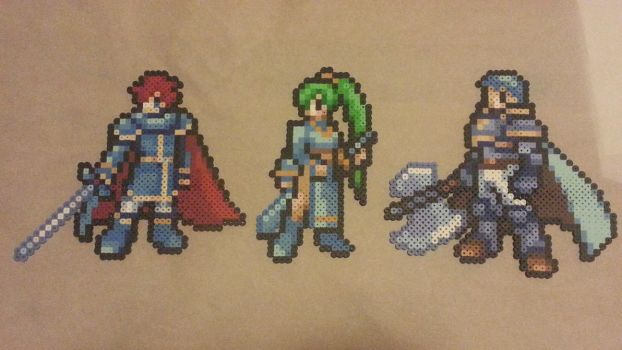 Fire Emblem 7 Lords Bead Sprites by montoyaa520