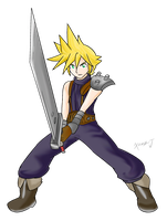 Fighters United: Cloud by Xero-J