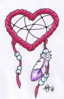 Dream catcher heart by madtattooz