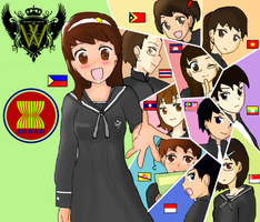Hetalia - ASEAN in World Academy by adventvera16