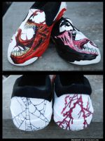 Venom and Carnage Shoes by Skissored